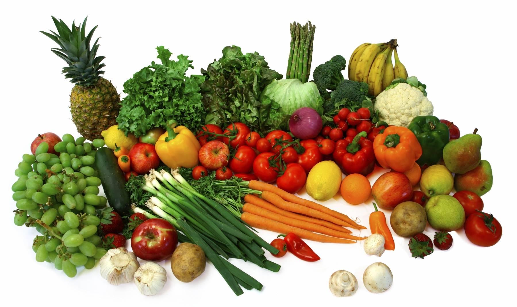 میوه و سبزیجات خام