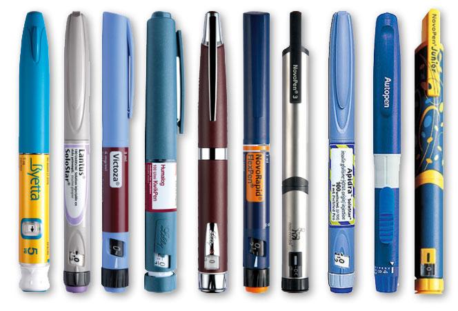 قلمهای انسولین آماده