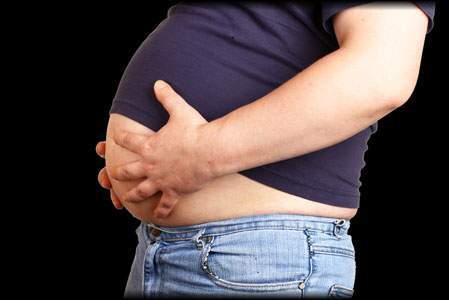 چاقی مثل بزرگ شدن شکم اندازه یک توپ